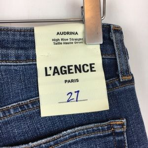 L'AGENCE Jeans - L'AGENCE | Audrina High Rise Straight Leg Jeans